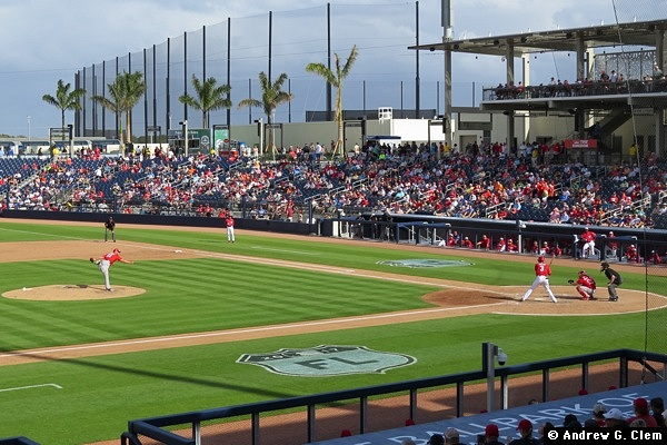 Ballpark of the Palm Beaches from 3rd base