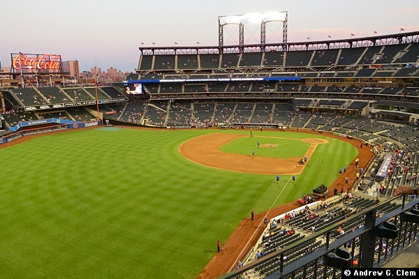 Citi Field from left field upper deck