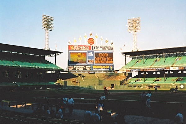 Comiskey Park from 3rd base