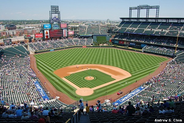 Coors Field grand view behind home plate