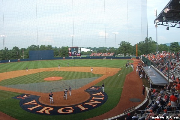Davenport Field behind home plate