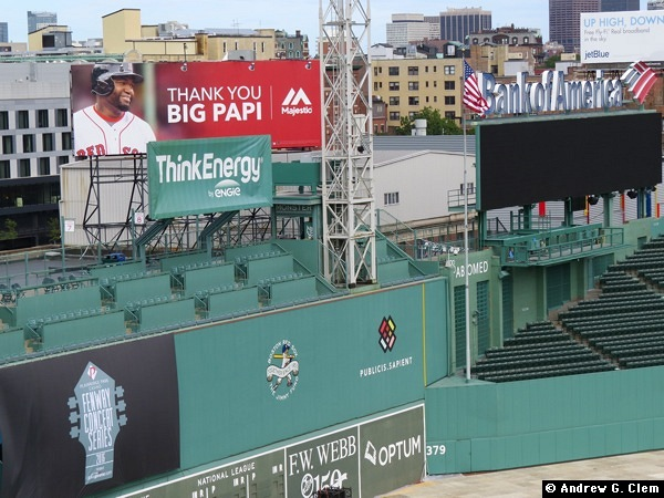 Fenway Park - Thank You Big Papi sign