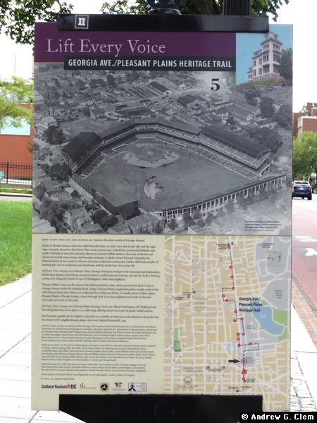 Griffith Stadium historical marker