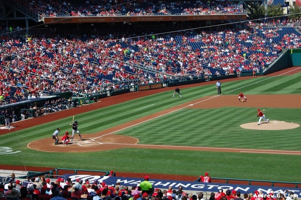 Gio Gonzalez pitches in Nationals Park