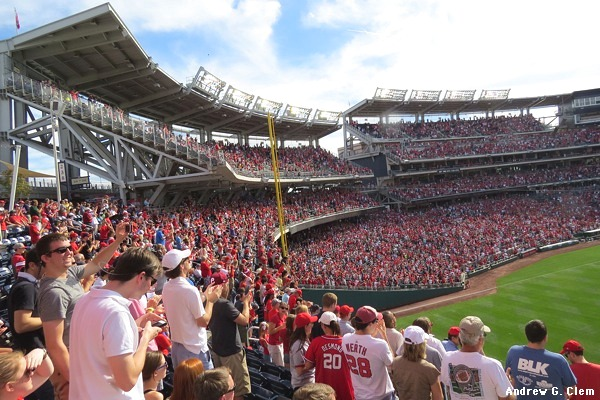 Nationals Park RF 2nd deck
