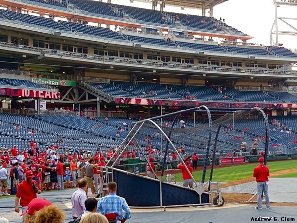 Nationals Park batting cage, Cincinnati Reds
