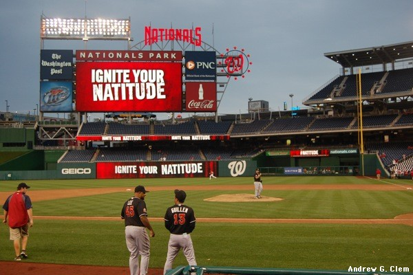 Nationals Park from visitors dugout