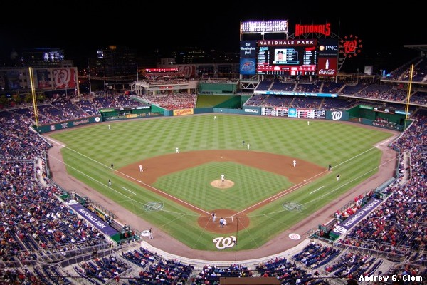 Nationals Park grand view, night