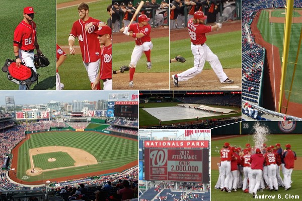 Nationals Park montage, 8 Sep 2012