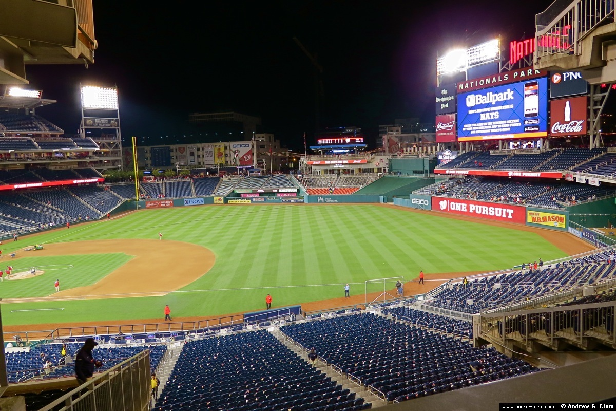 Nationals Park at night