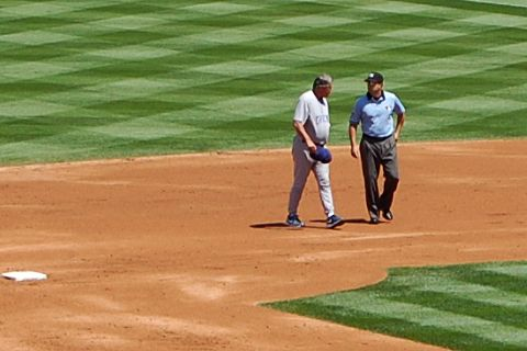 Lou Pinella, umpire at Coors Field