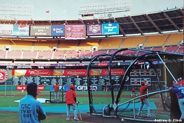RFK Stadium batting practice