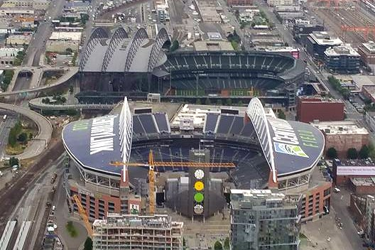 Seattle stadiums above
