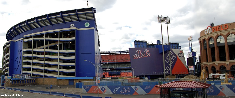 Shea Stadium, Citi Field external panorama East
