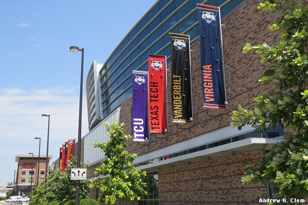 TD Ameritrade Park CWS 2014 banners