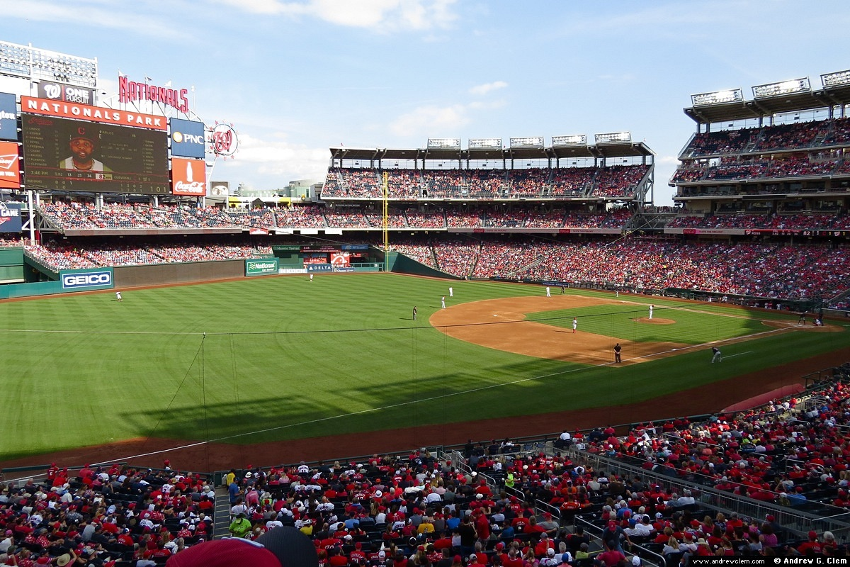 Nationals Park from 1st base 2nd deck 2019