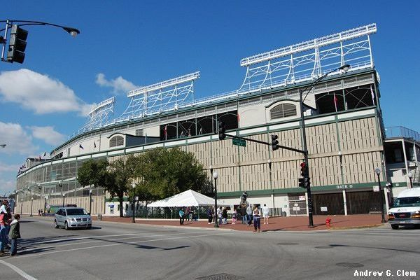Wrigley Field, from the southeast corner