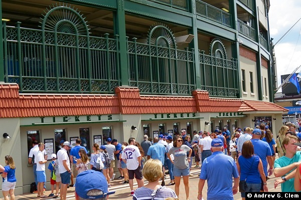 Wrigley Field ticket windows 2017