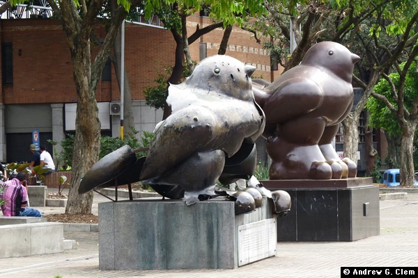 Bird sculptures by Fernando Botero