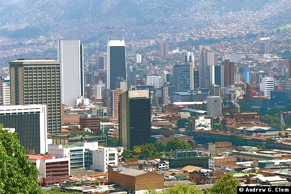 Medellin centro as seen from Cerro Nutibara
