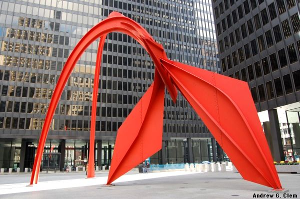 Chicago - Calder's flamingo sculpture