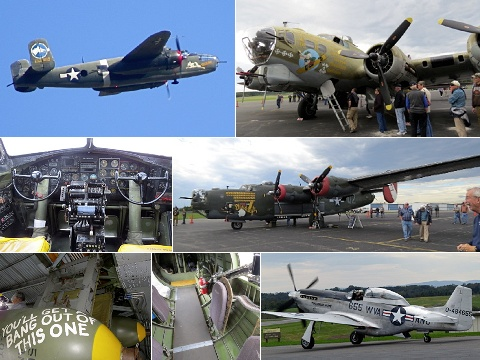 World War II aircraft montage