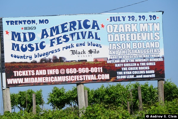 Mid America Music Festival sign