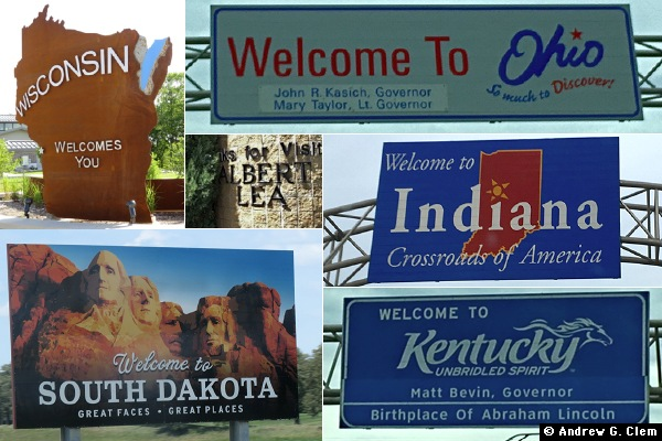 Welcome state signs - 2017