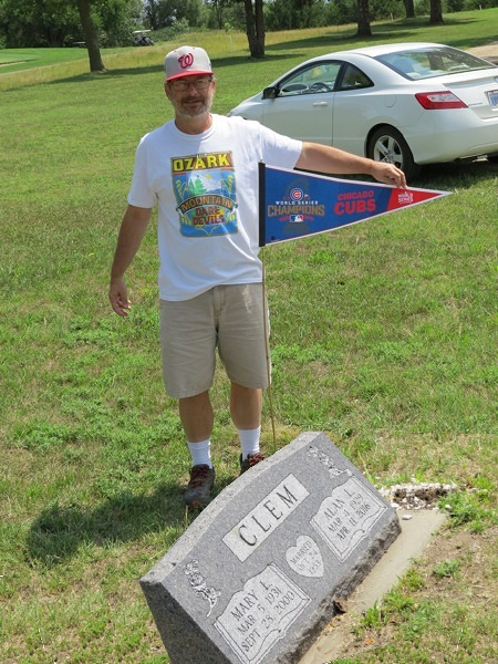Andrew, Cubs flag, gravesite