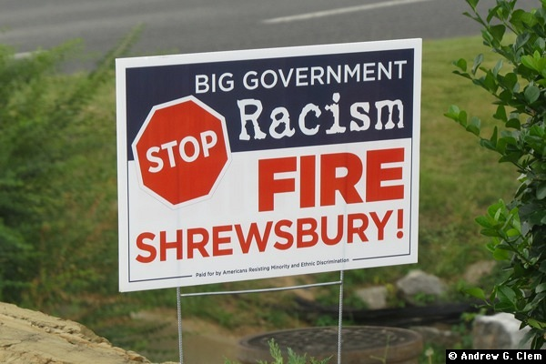 Fire Shrewsbury sign