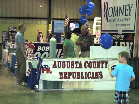 GOP booth Augusta County Fair
