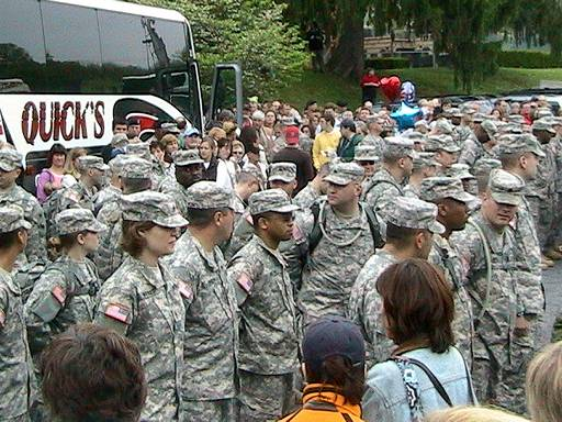 National Guard troops leaving