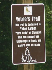 YuLee Trail sign