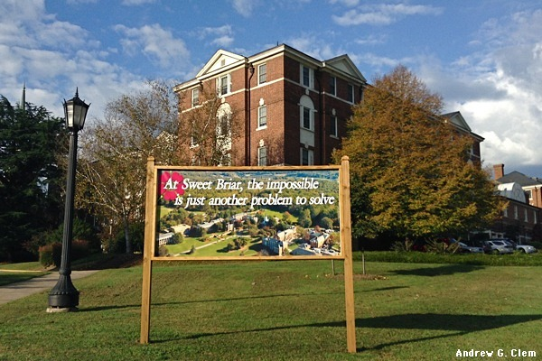 Sweet Briar impossible sign