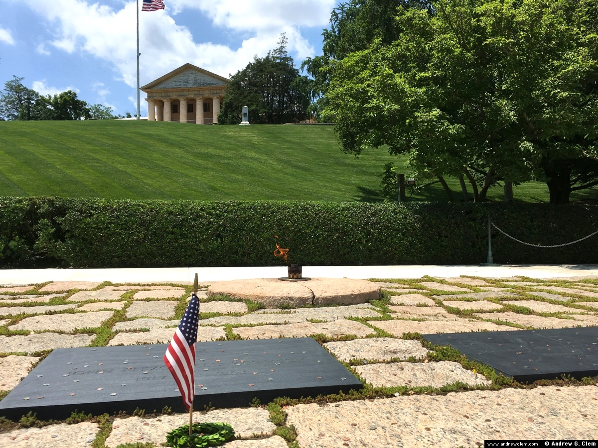 John and Jacqueline Kennedy gravesite