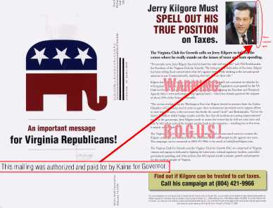 Anti-Kilgore fake GOP flyer small